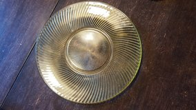 Gold depression glass plate in Lockport, Illinois