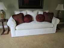 WHITE DOWN FILLED COUCH in Bolingbrook, Illinois
