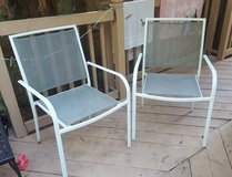 Patio Chairs - Metal / White (3 Total) in Naperville, Illinois