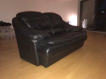 Couch. Black. Genuine leather. Soft. Cozy. Maden Italia. Good condition. in Stuttgart, GE