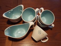 coffee sugar bowl,creamer,&5 cups in Oswego, Illinois