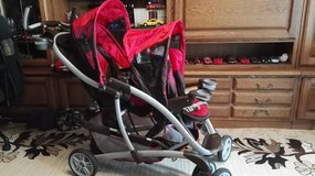 Double stroller GRACO  with bar system, diaper bag in Ramstein, Germany