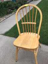 Solid oak chairs- set of 4 in Elgin, Illinois