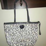 Authentic Coach Grey Leopard purse in Fort Knox, Kentucky