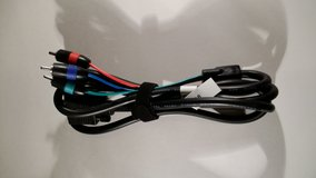 New D-Sub HD15 VGA SVGA to 3RCA RGB Component Video Cable - 5.5 ft in Baytown, Texas