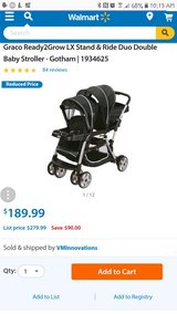 graco double stroller in Cherry Point, North Carolina