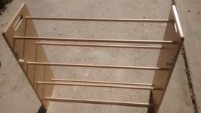 20 Pair Wooden Shoe Rack With Brackets in Kingwood, Texas