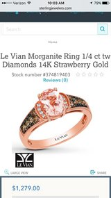 Le Vian ring with chocolate diamonds and morganite. has extra ring welded to it. MUST SELL ASAP in Phoenix, Arizona