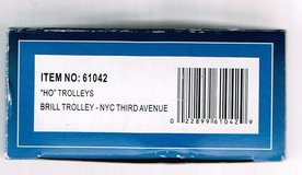 HO Scale  Bachmann Brill Trolley painted as Third Avenue Railway System in Chicago, Illinois
