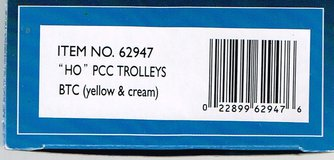 HO Scale Bachmann PCC Trolley painted as BTC (yellow & cream) in Chicago, Illinois