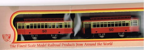 HO Scale IHC Trolley with Trailer in Joliet, Illinois