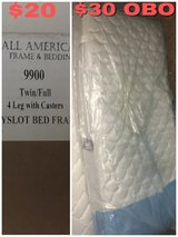 twin mattress and frame in Hemet, California