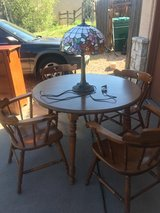 Maple dining table w/4 chairs in Fort Carson, Colorado