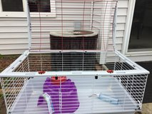 Pet cage w accesories in Naperville, Illinois