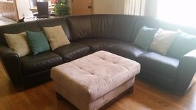 Natuzzi sectional leather couch in Bartlett, Illinois