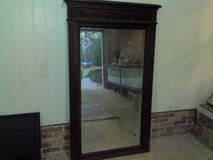 English Antique Large Solid Oak Mirror in Valdosta, Georgia