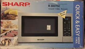 Microwave 110V 1100W - SHARP Stainless Steel in Ramstein, Germany