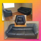 Set of 2 leather couches in Sacramento, California