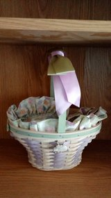 2004 whitewashed Longaberger large easter basket in Fort Riley, Kansas