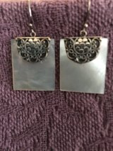 Mother of Pearl Sterling Silver Earrings in Stuttgart, GE