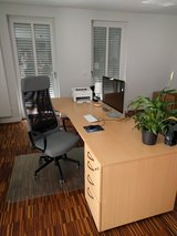 Large Corner Desk L-shape with File cabinet and drawers and chair in Ramstein, Germany