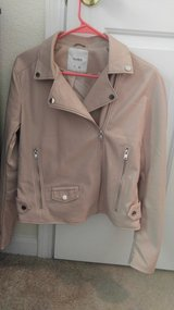 Pink Leather Jacket- Size L NEW in Norfolk, Virginia