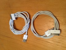2 Apple charging cables iPhone 4 and below in Ramstein, Germany