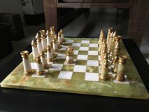 Green Marble White Onyx Chess Game (From Greece) in Stuttgart, GE