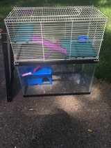 Hamster cage with second floor addition in Bartlett, Illinois