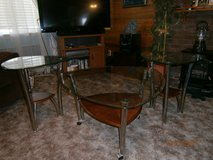 coffee table and end tables, glass, excellent condition in Mountain Home, Idaho