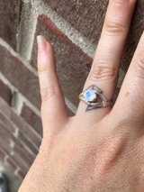 New Gorgeous Custom Moonstone twig SS ring in Eglin AFB, Florida