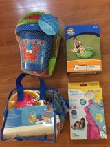 Girl fabric arm floats & beach toys all new in Oceanside, California