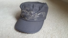 Embroidery Grey Military Womans Baseball Hat in St. Charles, Illinois