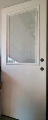 WHITE DOOR/BUILT-IN BLINDS in St. Charles, Illinois