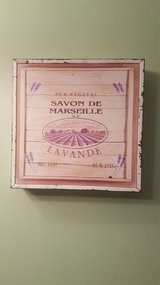 French Lavender Decor Faux Wood Sign in Naperville, Illinois