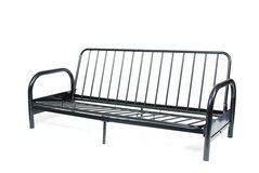 Used (great condition) Twin FUTON metal frame with black fabric cushion for $50 in Fort Carson, Colorado