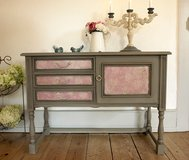 Adorable Shabby Chic Sideboard Chest Of Drawers Dresser Beautiful Colors & Decor! in Ramstein, Germany