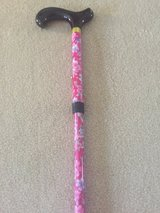Pink Floral Adjustable & Foldable Cane in Batavia, Illinois