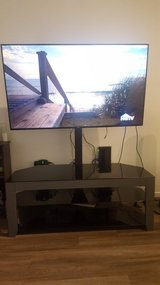 Gray and Glass TV Console with Mount in Oceanside, California