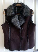 FAUX FUR & FAUX SUEDE VEST in Lakenheath, UK