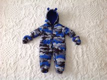 New with tag the Children's Place Baby Boy Zip Bear Bunting/Snowsuit Hooded/Mittens, 3-6 m in Palatine, Illinois