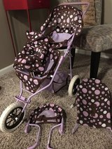 Double baby doll stroller and matching accessories in Lockport, Illinois