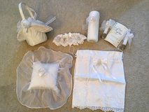 VERY CLEAN Wedding Accessories ONLY Candles, Bag & Garter are Available in Bolingbrook, Illinois