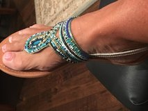 Steve Madden multi colored turquoise Flat Sandles in Fort Campbell, Kentucky