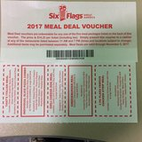 Six Flags Great America Meal Vouchers in Naperville, Illinois