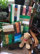 Batik Quilt and Pillow in Wilmington, North Carolina