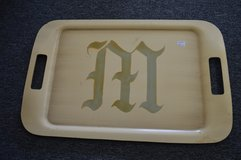 Yellow/Green Serving Tray with M Monogram in Perry, Georgia
