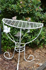 White Wire Plant Stand in Perry, Georgia