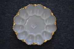 Deviled Egg Dish with Gold Trim in Perry, Georgia