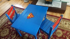 Superman kids table and chairs in Fort Lewis, Washington